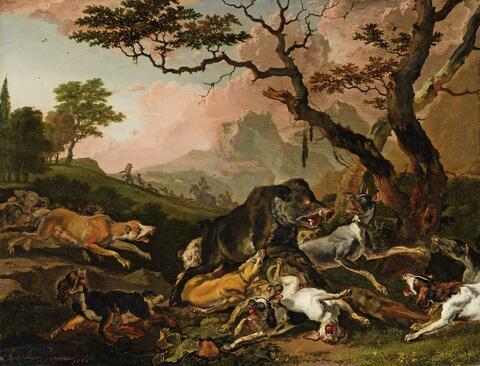 Abraham Hondius - WILDSCHWEINJAGD
