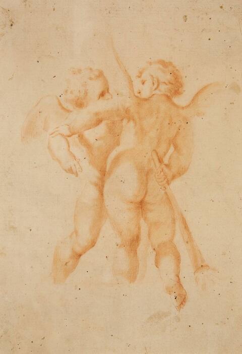 Guido Reni, attributed to - TWO PUTTI
