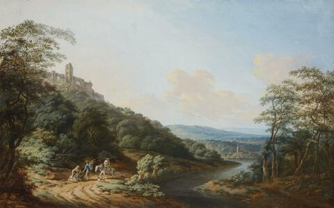 German School, 18th century - TWO RIVER LANDSCAPES