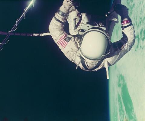 NASA - Edwin E. Aldrin, umbilical extravehicular activity, Gemini XII