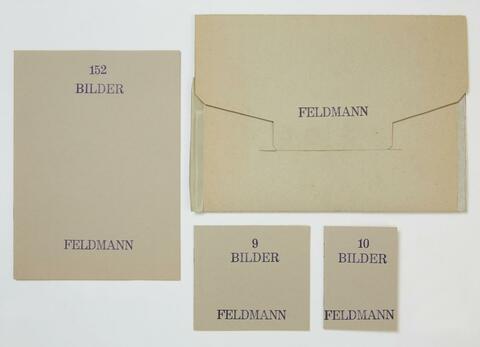 Hans-Peter Feldmann - Ohne Titel (3 Bilder-Hefte)