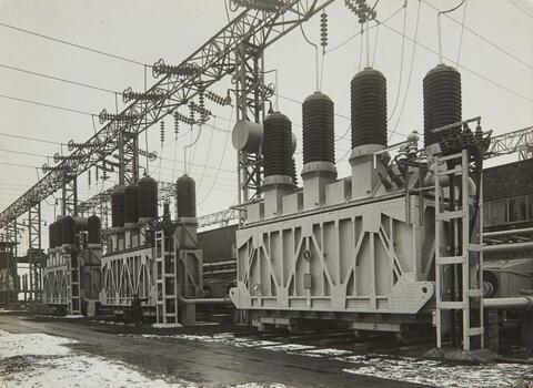 Hein Gorny - Drei Hochspannungsleitungen, Brauweiler (Three high voltage power lines, Brauweiler)