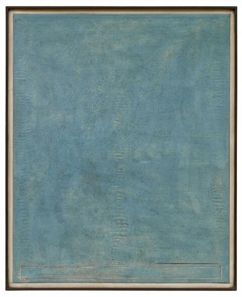 Karl Fred Dahmen - Furchenbild-Blau I