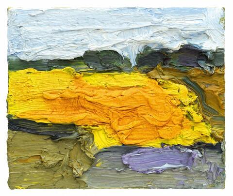 Klaus Fußmann - Untitled (Landschaft mit Raps)