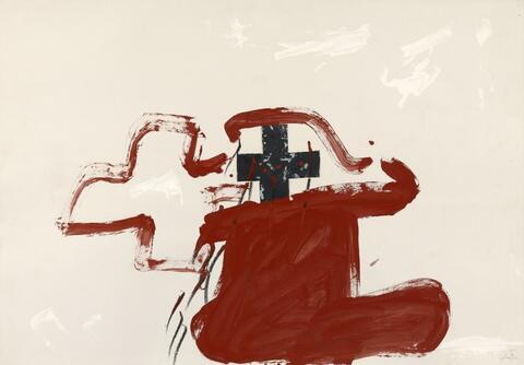 Antoni Tàpies - Forma vermella i creus