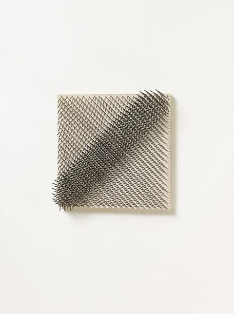 Günther Uecker - Diagonale Struktur (Aus der Serie: Parallelstrukturen)
