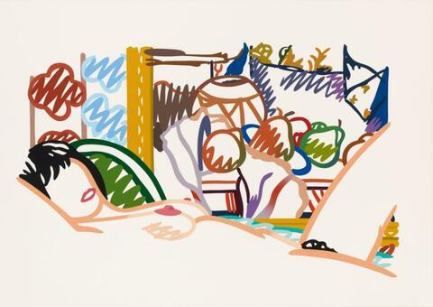 Tom Wesselmann - Monica Nude with Cézanne (from: Portfolio 90)