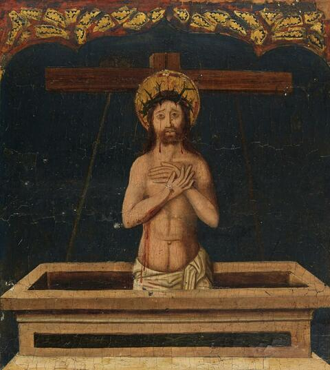 Probably Spanish School of the late 15th century - Christ as Man of Sorrows
