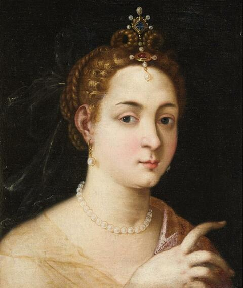 Probably Venetian School of the 16th century - Portrait of a Lady (possibly as an allegorical Figure)