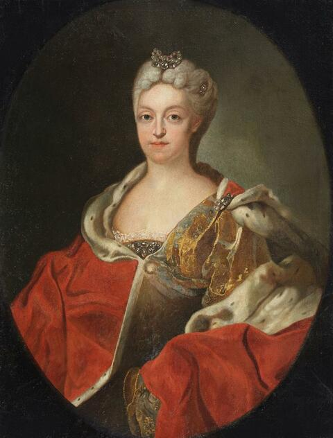 Joseph Vivien, circle of - Portrait of the Electoress Maria Amalia of Bavaria