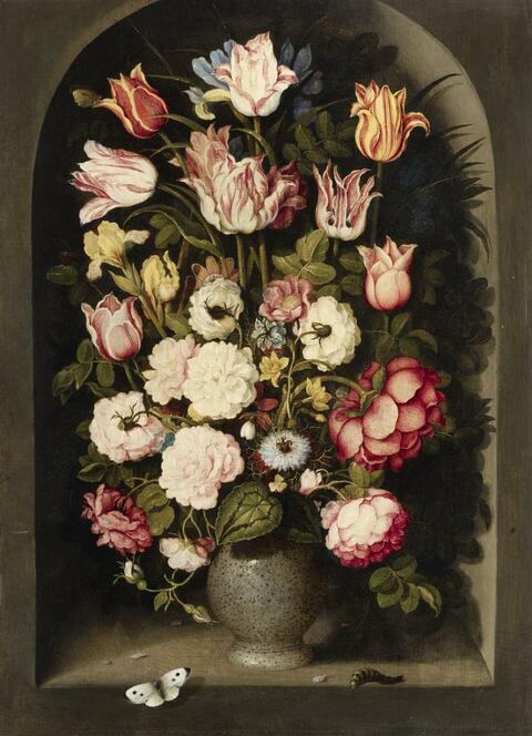 Ossias Beert - Blumenvase in einer Steinnische
