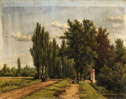 Jan Willem van Borselen - Landscape with a Poplar-Lined Avenue