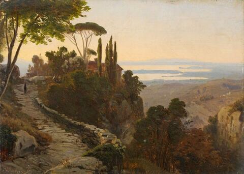 Oswald Achenbach - Italian Landscape