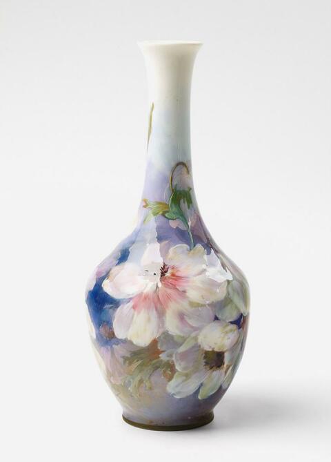 Vase mit Weichmalerei -