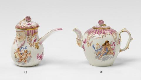 Teekännchen mit fliegenden Kindern -