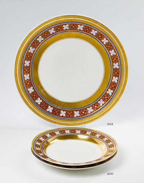 Zwei runde Platten -