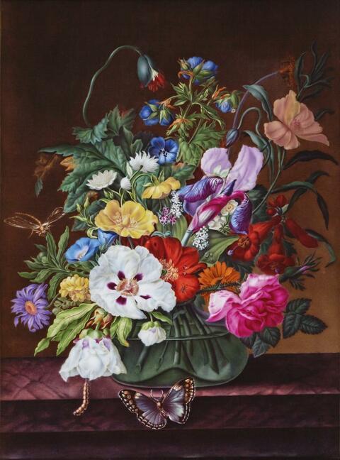 Porzellanbild Blumenstillleben -
