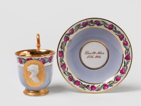 A KPM cup comemmorating the jubilee of Queen Luise. -