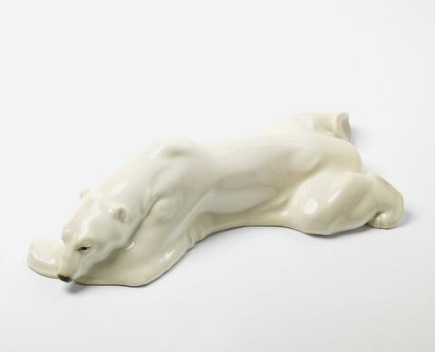 Liegender Eisbär -