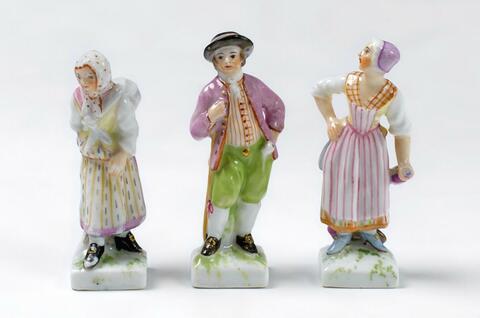 Drei Miniaturfiguren -