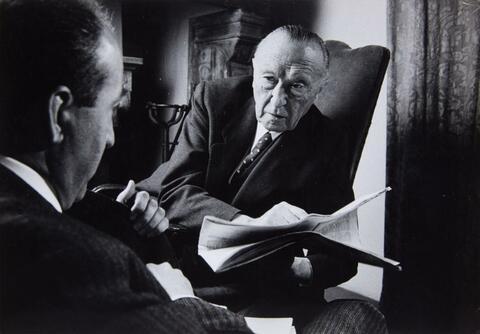 Will McBride - Konrad Adenauer, Cadenabbia