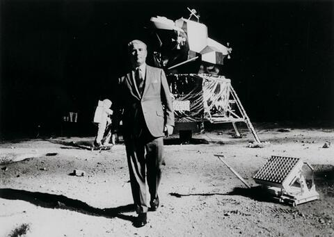 NASA - Dr. Wernher von Braun, one of the leaders in America's space flight program, took a walk on the Moon