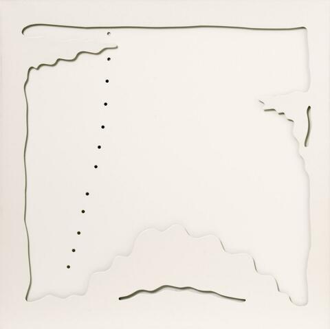 Lucio Fontana - Concetto spaziale - Teatrino (bianco)