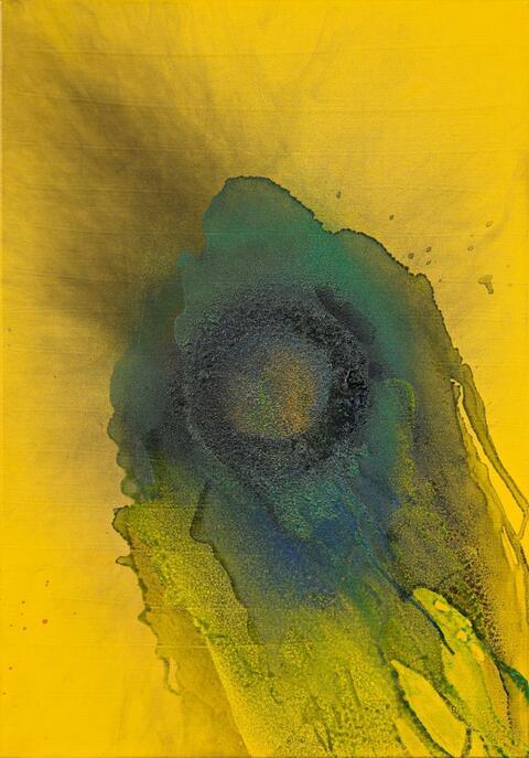 Otto Piene - Green Blossom