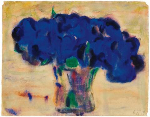 Christian Rohlfs - Topf mit blauer Blume