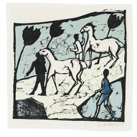 Erich Heckel - Weisse Pferde