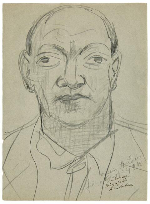Max Beckmann - Portrait Curt Valentin