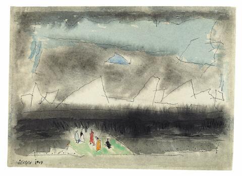 Lyonel Feininger - Tiny and wondering Souls