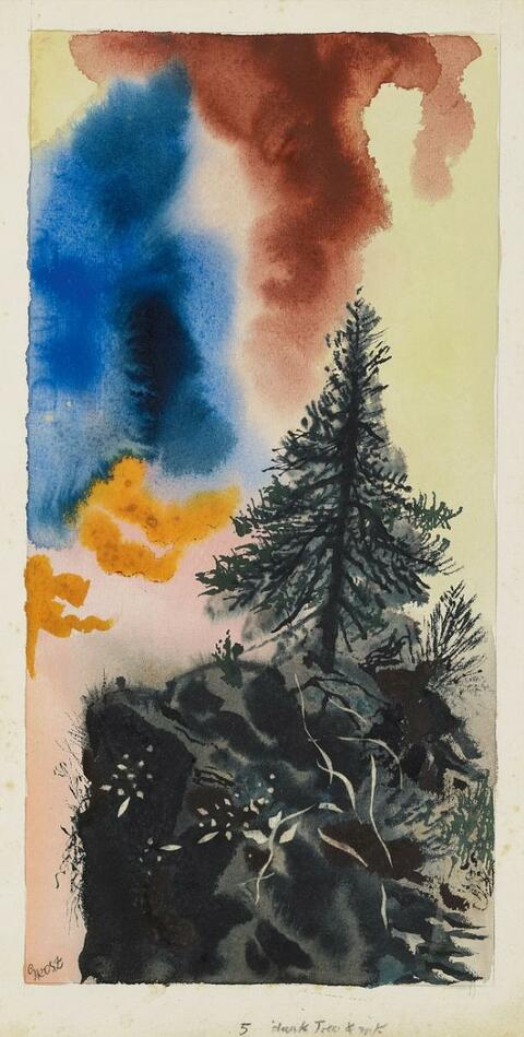 George Grosz - Dark Tree and Rock
