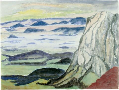 Erich Heckel - Blick in die Ebene