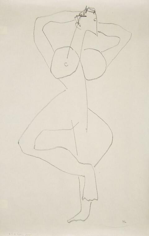 Henri Laurens - Femme debout aux bras levés