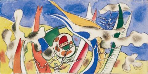 Fernand Léger - Esquisse pour une cantine dans un Camp d'Aviation