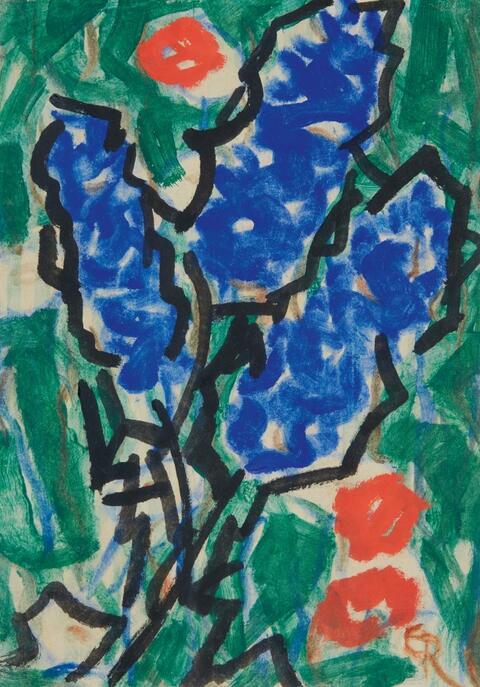 Christian Rohlfs - Blaue und rote Blüten