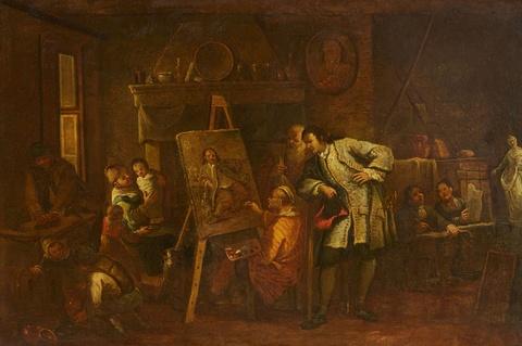 Italienischer Meister des 18. Jahrhunderts - Maleratelier