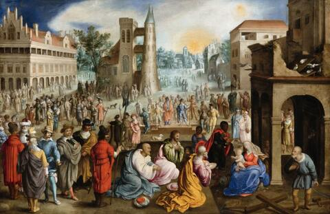 Anton Mozart, attributed to - The Adoration of the Magi