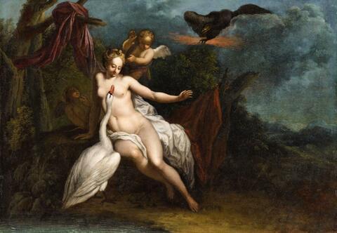 Italienischer Meister des frühen 17. Jahrhunderts - Leda und der Schwan