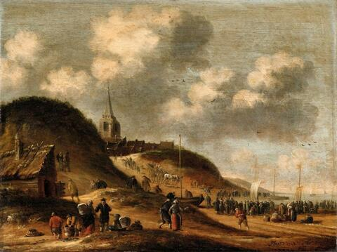 Thomas Heeremans - A Beach Scene Near Scheveningen