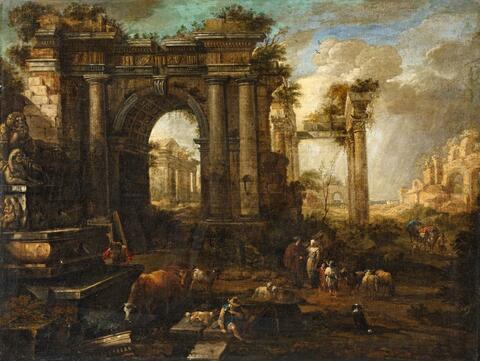 Italienischer Meister des 18. Jahrhunderts - Architektur-Capriccio