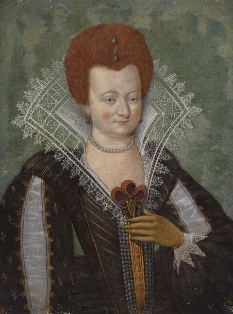 Französischer Meister des 16. Jahrhunderts - Bildnis einer eleganten Dame