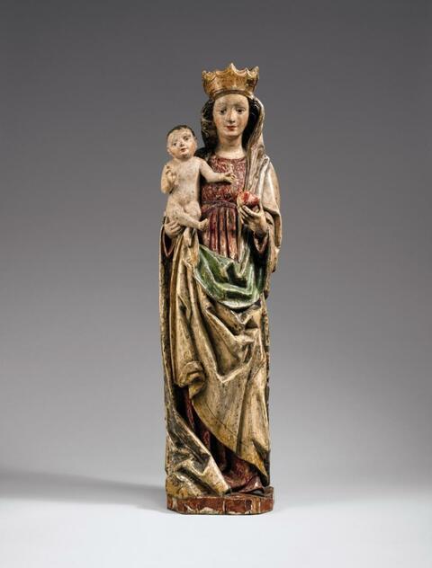 Swabia circa 1470 - A Swabian figure of the Virgin and Child, circa 1470.