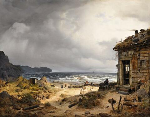 Andreas Achenbach - Nordische Küstenlandschaft