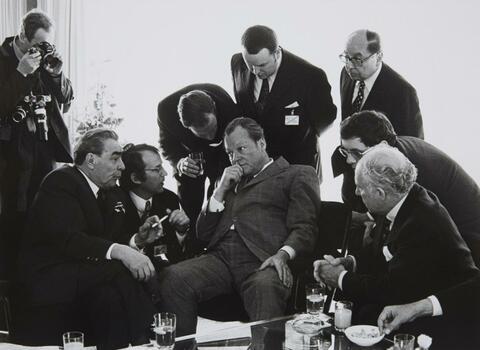 Barbara Klemm - Staatsbesuch Leonid Breschnew, Willy Brandt, Bonn