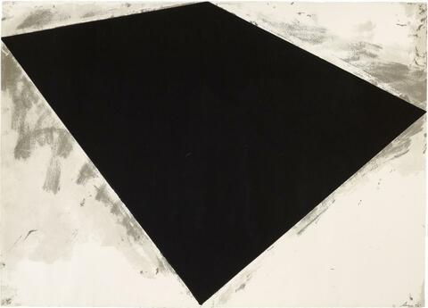 Richard Serra - Ohne Titel (Philip Glass Poster)