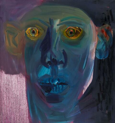 Rainer Fetting - Crazy face