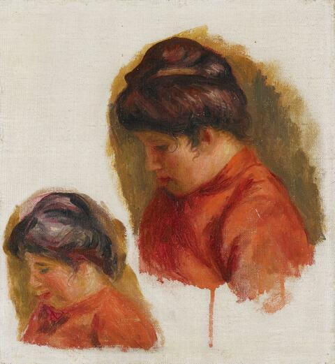 Pierre-Auguste Renoir - Femme au corsage rouge (Étude de Gabrielle)