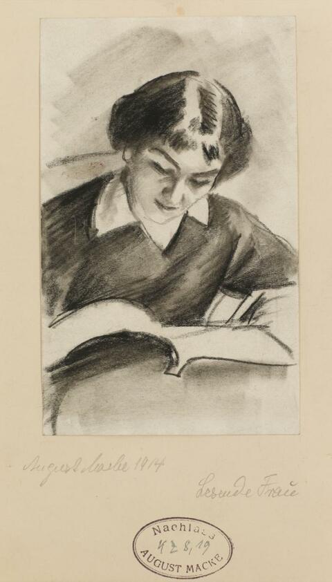 August Macke - Lesende Frau